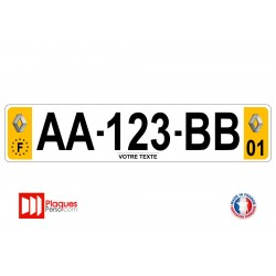 Plaque d'immatriculation Renault sport