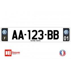 Plaque d'immatriculation Volkswagen carbone