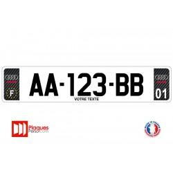 Plaque d'immatriculation Audi carbone
