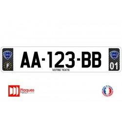 Plaque d'immatriculation Lancia carbone