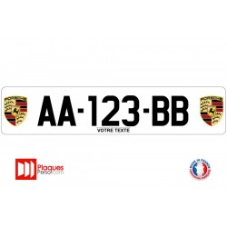 Plaque d'immatriculation Porsche logo