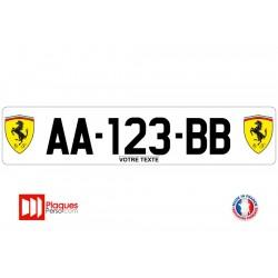 Plaque d'immatriculation Ferrari logo