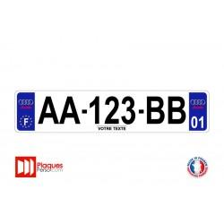 Plaque d'immatriculation Audi