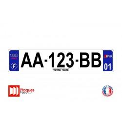Plaque d'immatriculation Audi RS