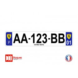 Plaque d'immatriculation Ferrari