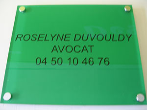 plaque cabinet d'avocat