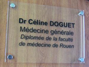 plaque docteur