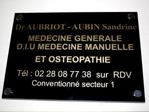 plaque médecin