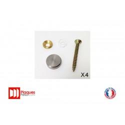 Kit de fixation pour plaque signalétique inox plat