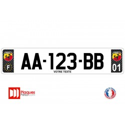 Plaque d'immatriculation Abarth carbone