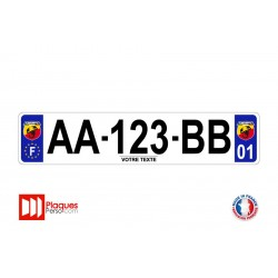 Plaque d'immatriculation Abarth
