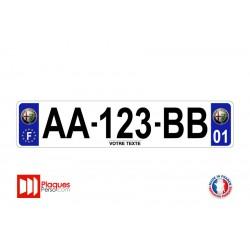 Plaque d'immatriculation Alfa Romeo