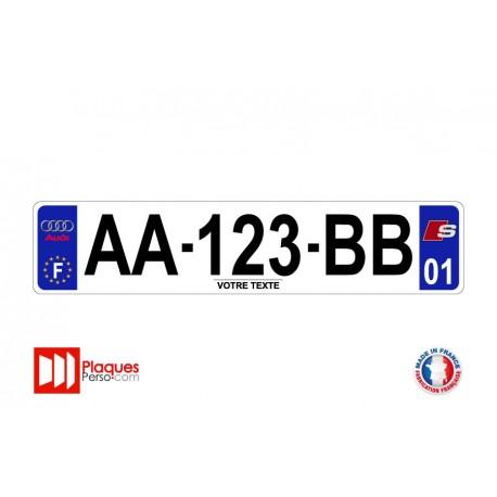 Plaque d'immatriculation Audi S line