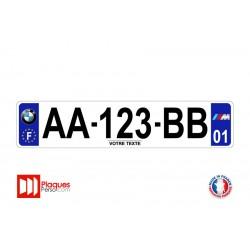 Plaque d'immatriculation BMW M