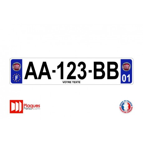 Plaque d'immatriculation Fiat